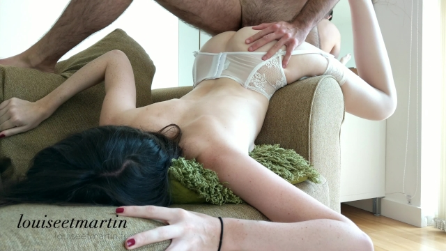 Intense fuck in hot lingerie till orgasm with his curved dick - 4k