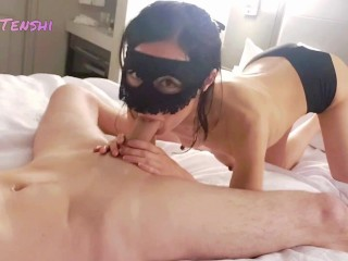Playing with my Japanese wife at the hotel - Anna Tenshi