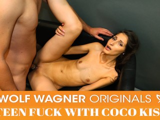 Coco Kiss seduces her male model & makes him cum! WOLF WAGNER