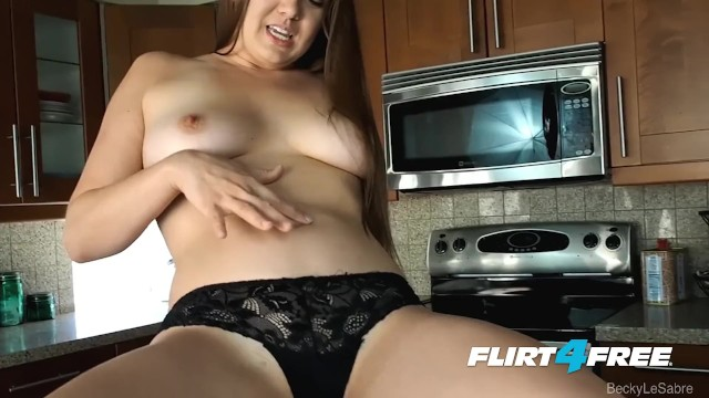 Becky Lesabre on Flirt4Free - Hot Pornstar Tickles Tummy and Pussy in Heels