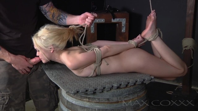 Hogtied and Mouth Fucked