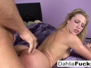 Naughty bedroom fun with Dahlia Sky