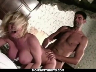 MomsWithBoys - Hot Blonde Mom Hard Fucks Her Much Younger Lover
