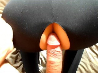 Black widow gets brutal anal and deepthroats cock (Internal ass creampie)