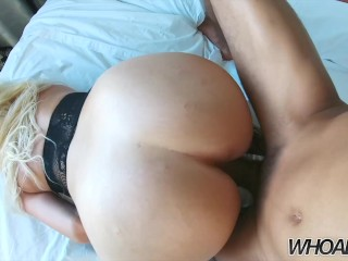Alexis Andrews big 48in booty fucks a huge 12in bbc