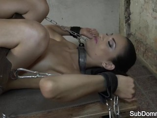 Bound smalltits  by her master>
