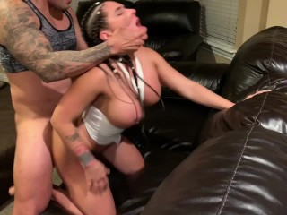 Real amateur anal fuck to a young MILF latina