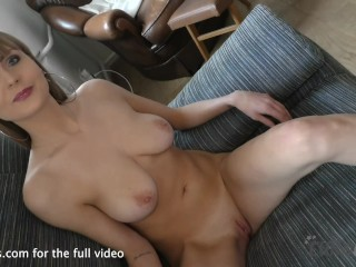 sexy sabine first time video interview and fingering closeups