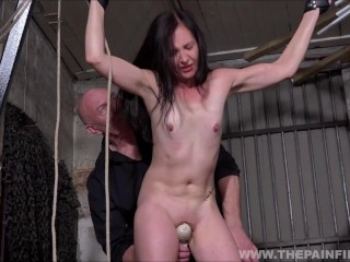 Amateur bondage and sex toys domination of milf slave Lolani tied up and pussy punished
