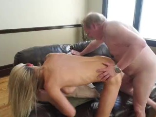 2 fat old guys fuck hot girl