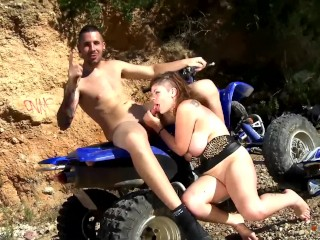 Busty Bitch Spreads Her Nice Legs And Gets Fucked Hard On That ATV