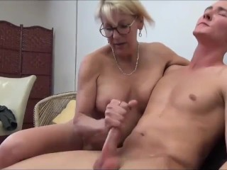 Taboo! Mature MILF seduces and fucks her 18yo stepson with big cock