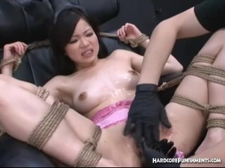 Asian Submissive Bound Toyed And Orgasmed To The Extreme By Two Jap Doms