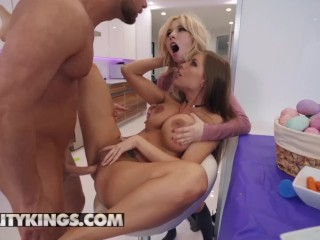 Reality Kings - Stepmom Britney Amber punishes Kenzie Reeves and her bf