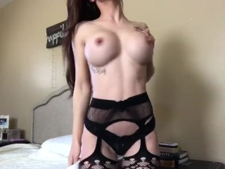 Instagram model Allison Parker anal masturbation