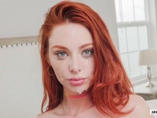 HORNY TEEN REDHEAD LACY LENNON LOVES BEING CREAMPIED AND RIMMING