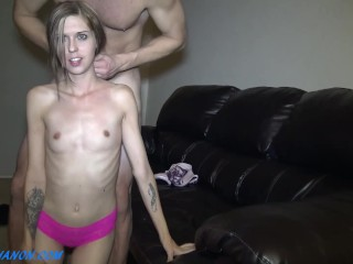 Real 1st Time Amateur Jade Face Fucked & Painfully Fucked