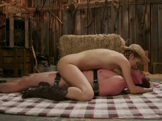 Amazing cowgirl ride femdom with bondage and shocks