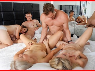 Swingers Orgy - Bisexual Group Sex with Double Squirt