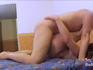 REAL SEX ORGASM: intense female orgasm at 05.35 minute & creampie at 08.40