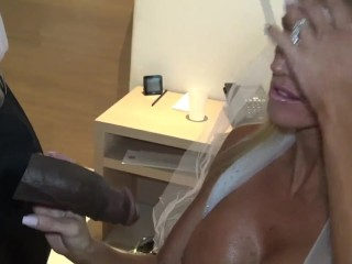 Silicone bimbo slut suck big dick
