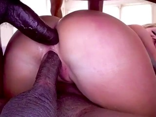 Teen Sister gets Rough Interracial DP // SISSY CUCKOLD CAPTION TRAINER