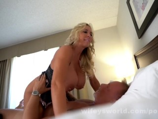 Busty MILF Goddess Swallows A Second Load Of Cum