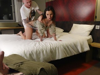 The Husband Watches as his Wife is Fucked in all poses by her Lover!
