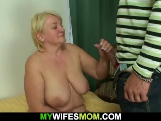 Hung guy fucks big tits blonde mother inlaw