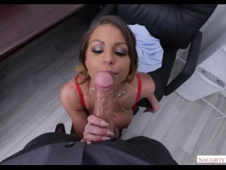Brooklyn Chase POV office fuck