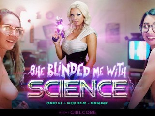 GIRLCORE Nerdy Lesbians Blinded By Science & Hot Virtual MILF