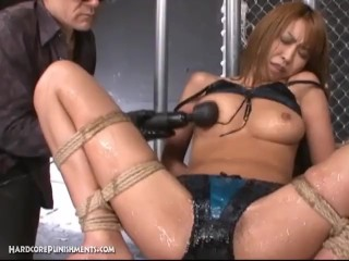 Seductive Asian Honeypot Teen Covered In Oil And Lube And Vibed To Orgasmic Release