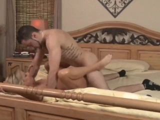 Taboo!!! Stepson cums accidentally inside his shameless mature stepmom