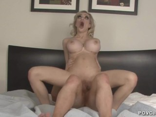 POV Cucold 44 British Hot wife Chessie Kay cuckolds husband creampie eating