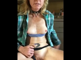 Horny Working Girl Fucks Herself Wet Dripping Cum Orgasm