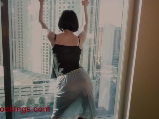 FFstockings - Exhibitionist at the window