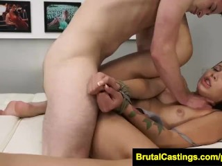 Brutal Castings - Liza Rowe - Face fucked on her casting audition