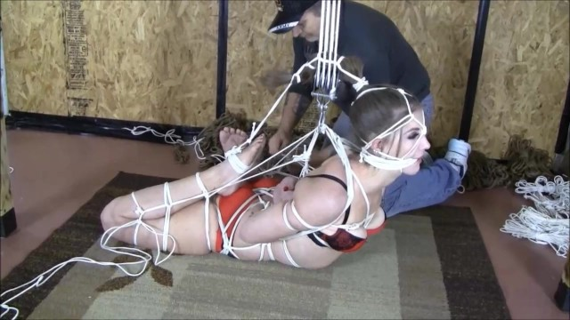 brutally taken and hogtied