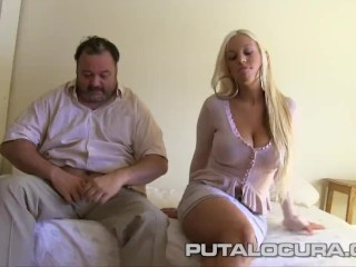 Lucky old guy creampie blonde