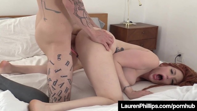 Pale Pussy Lauren Phillips Dick Stuffs Her Creamy Sex Box!