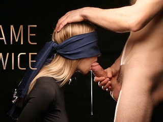 Blindfolded Submissive Slut Fucked in the Mouth - Came Twice! CIM & Facial